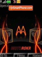 Moto Rokr es el tema de pantalla