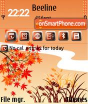 Red Autumn 01 es el tema de pantalla
