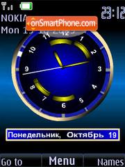 Clock analog blue animatad es el tema de pantalla