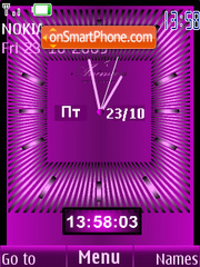 Clock analog violet theme screenshot