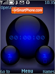 DigiSphere (Blue) es el tema de pantalla