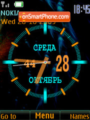 Analog clock & date theme screenshot