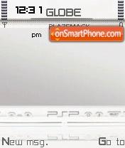 White Psp theme screenshot