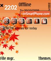 Red Autumn E71 es el tema de pantalla