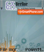 Orange Abstract 01 theme screenshot