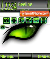Green eye 02 theme screenshot