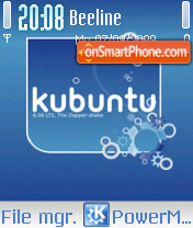 Kubuntu Linux theme screenshot