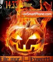 Halloween pumpkin faces es el tema de pantalla