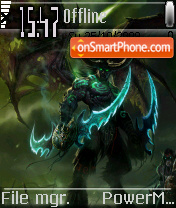 Devil Illidan theme screenshot
