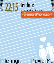 Animated Love 06 theme screenshot