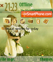 Girl And Daisies theme screenshot