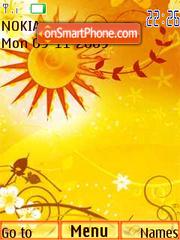 Sun, flash animation theme screenshot