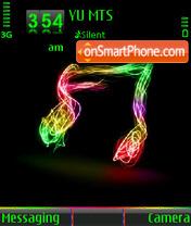 Music Note es el tema de pantalla