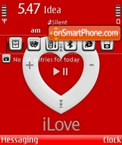 Ipod Love theme screenshot