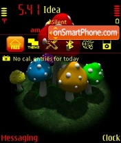 Toxic Mushrooms theme screenshot