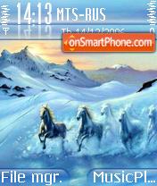 Ice Horses theme screenshot