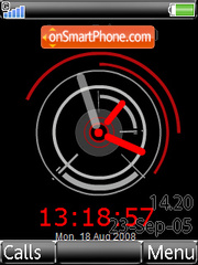 Revolution Black Clock theme screenshot