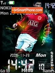 Ronaldo Clock theme screenshot