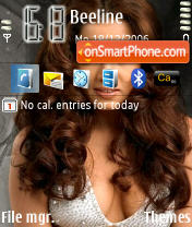 Celina Jaitely theme screenshot