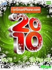 New Year 2010 es el tema de pantalla