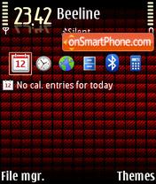 Red Cube 2 theme screenshot