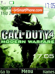 Call of duty SWF Clock es el tema de pantalla