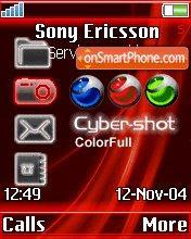 Cyber-shot es el tema de pantalla