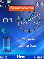 Clock battery & date3 theme screenshot