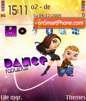 Dance fabolous. theme screenshot