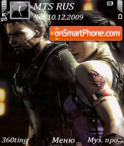 Resident evil 5 by altvic theme screenshot