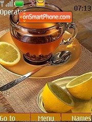Tea with a lemon theme screenshot