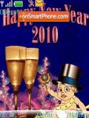 Happy New Year 2010 01 theme screenshot