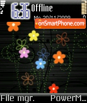 Abstract Floral theme screenshot