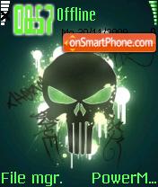 Green Skull 03 theme screenshot