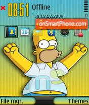 Homer simpson 10 es el tema de pantalla