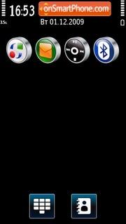 Black & Blue 02 theme screenshot