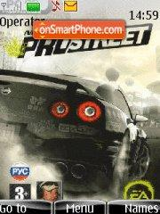 Need for Speed ProStreet theme screenshot