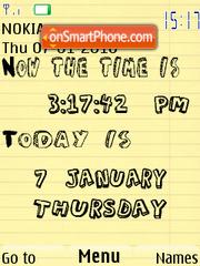 Time es el tema de pantalla