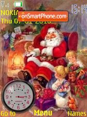 Santa Claus Clock es el tema de pantalla