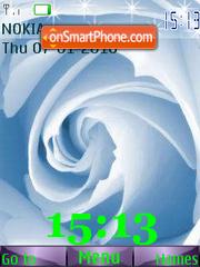 Rose SWF Clock es el tema de pantalla