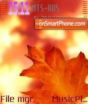 Autumn es el tema de pantalla