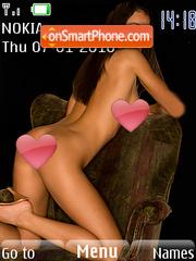 Brunette Young Girl theme screenshot