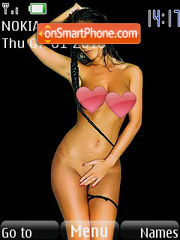 Brunette Babes theme screenshot