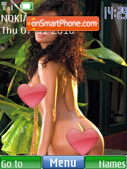 Hot Girl theme screenshot