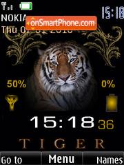 Tiger clock indicator1 theme screenshot