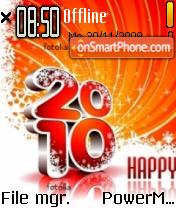Happy 2010 01 es el tema de pantalla