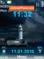 Swf clock water es el tema de pantalla