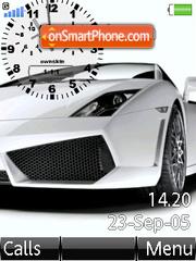 Swf Lamborghini Clock es el tema de pantalla