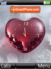 Swf Red Love Clock es el tema de pantalla