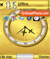 Golden Clock 01 tema screenshot